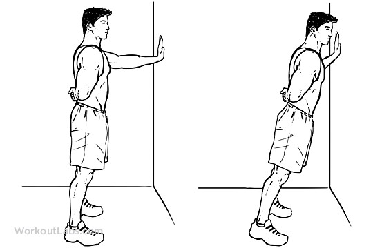 Single arm Wall push